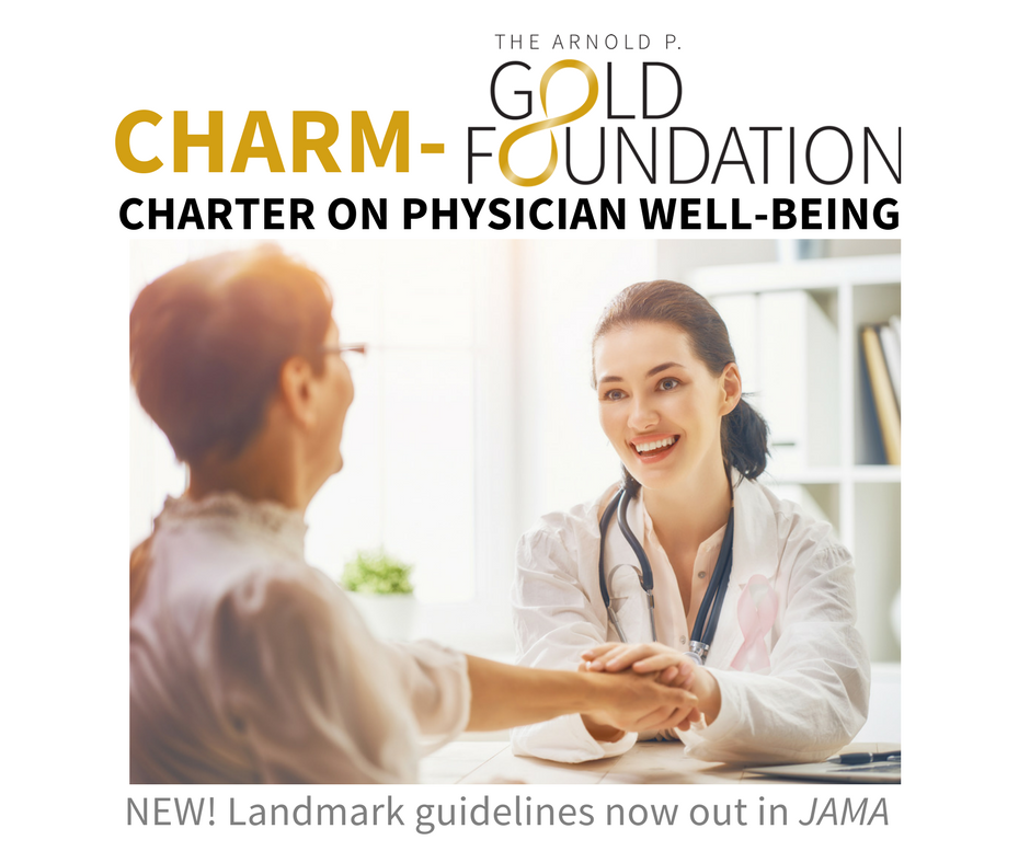 CHARM-Gold Charter on Physician Well-Being