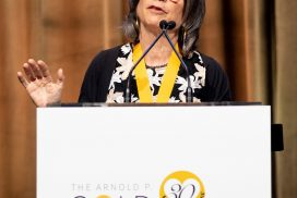 Anna Quindlen, speaking at the 2019 Golden Thread Gala, on June 13, 2019
